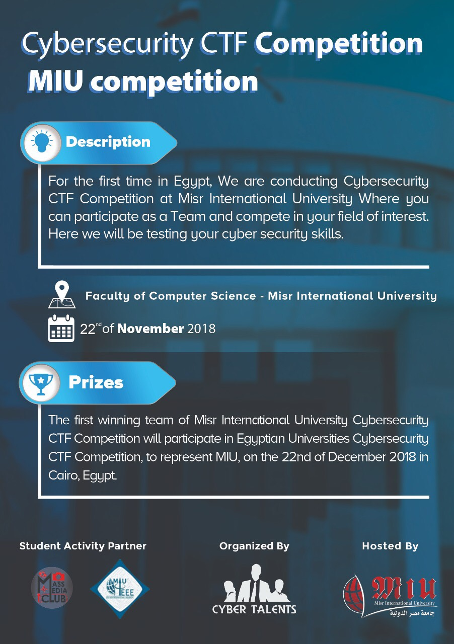 Cybersecurity CTF Competition | Misr International University